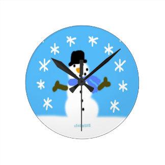 HI54WINT Snowie Relojes De Pared
