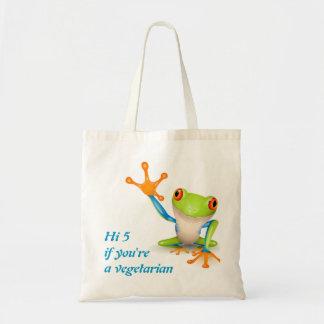 Hi5 frog for vegetarian bag