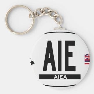 Hi-Aiea-Sticker Basic Round Button Keychain