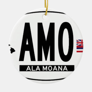Hi-ALA-MOANA-Sticker Ceramic Ornament