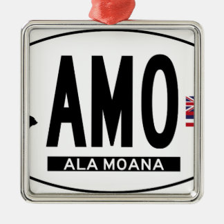 Hi-ALA-MOANA-Sticker Metal Ornament