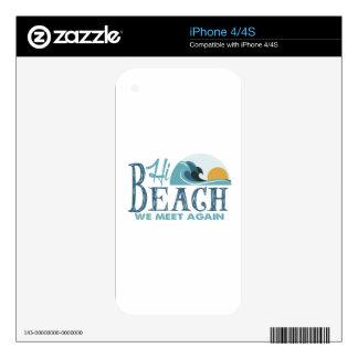 Hi Beach - We Meet Again Decal For The iPhone 4