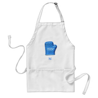 hi Blue Oven Mitt Adult Apron