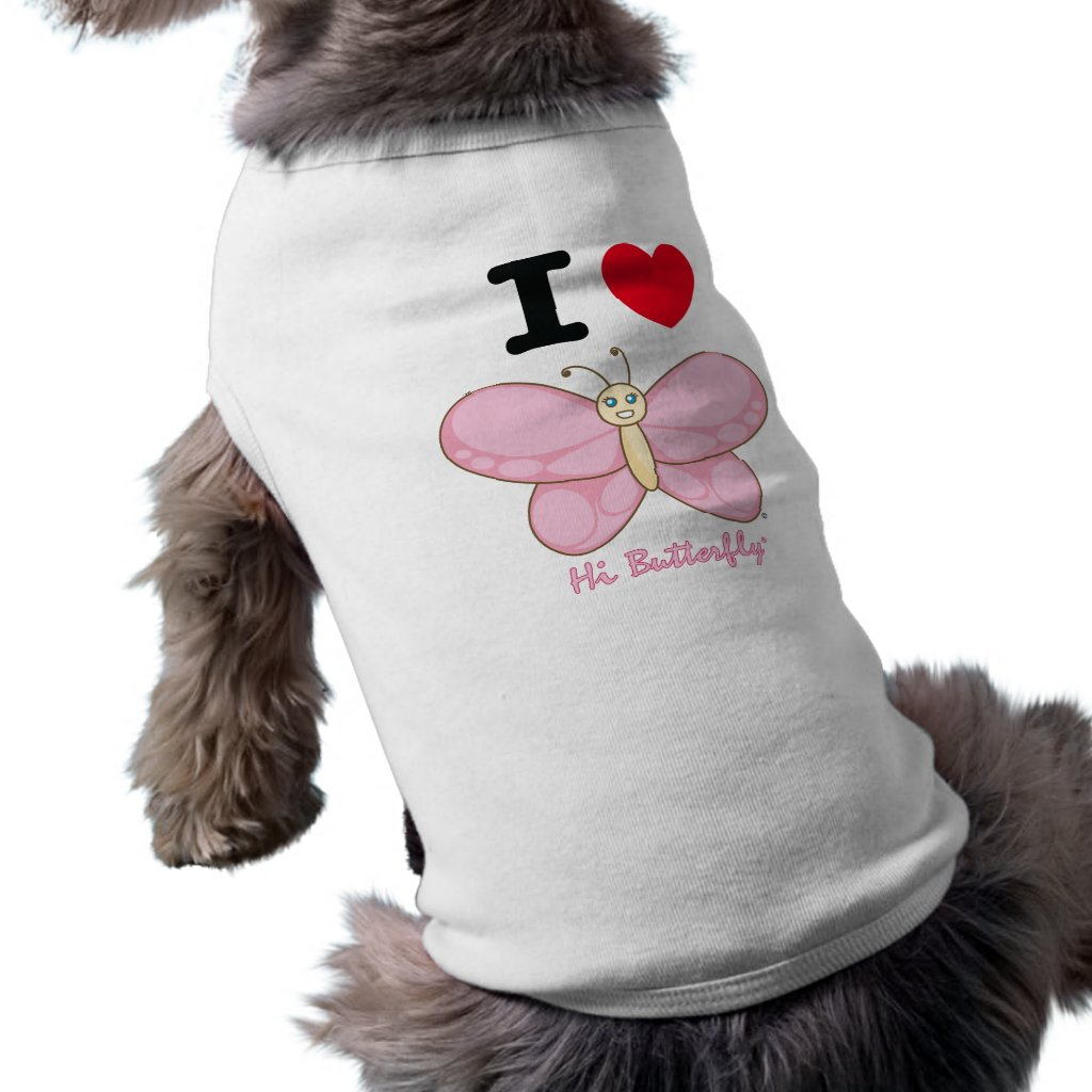 Hi Butterfly Dog Tank Top Doggie T-shirt