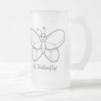 Hi Butterfly® Frosted Glass Mug