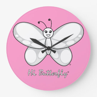 Hi Butterfly® Large Clock