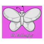 Hi Butterfly® Prints Poster