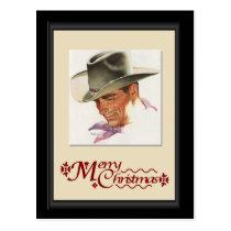 Hi, cowboy postcard