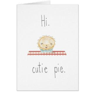 Hi Cutie Pie Note Card