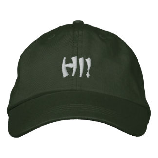 HI! EARTH COLLECTIONS APPAREL. EMBROIDERED BASEBALL CAP