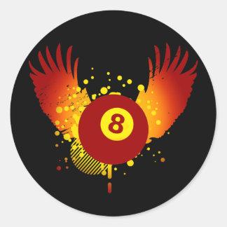 hi-fi billiards classic round sticker