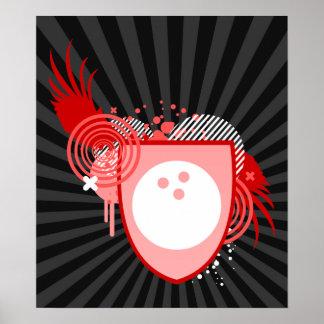 hi-fi bowling crest print