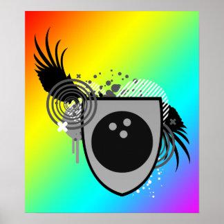 hi-fi bowling crest poster