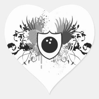 hi-fi bowling heart sticker