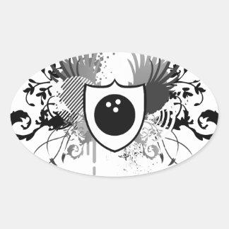 hi-fi bowling oval sticker