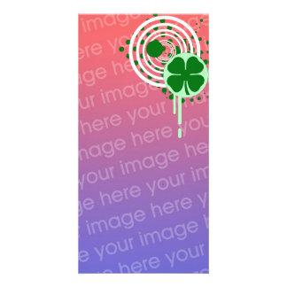 hi-fi shamrock bubbles card