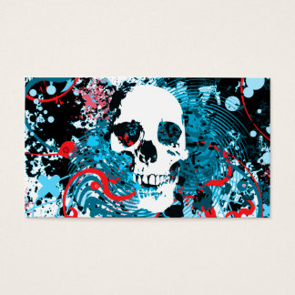 hi-fi skull business card