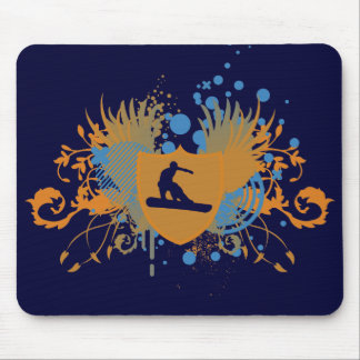 hi-fi snowboarding. mouse pad