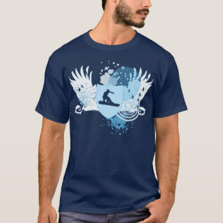 hi-fi snowboarding. traced in blue. T-Shirt