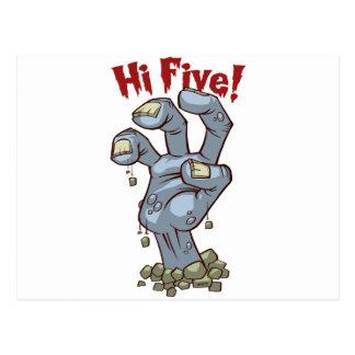 Hi Five! Postcard