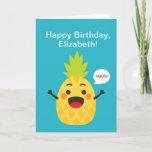 Hi Friends! Pineapple Illustration Card