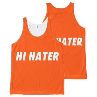 Hi hater - Bye hater All-Over-Print Tank Top
