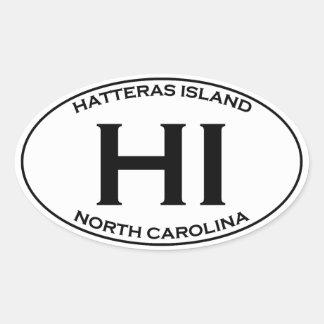 HI - Hatteras Island Oval Logo Oval Sticker