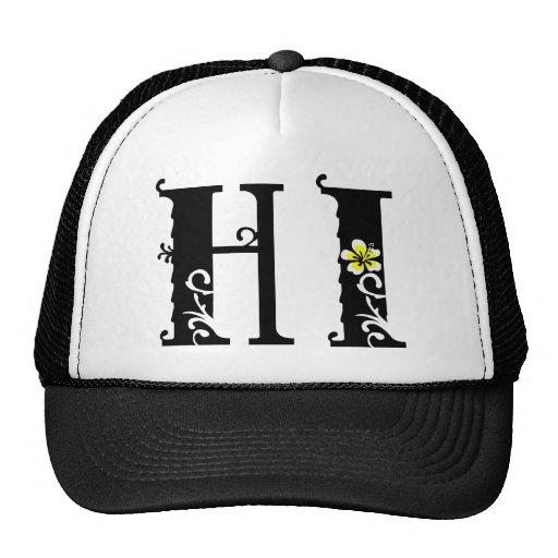 Hi Hawaii Hibiscus Icon Mesh Hats Zazzle