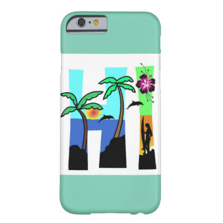 HI Hawaii Ocean Sunset Palm Trees Barely There iPhone 6 Case
