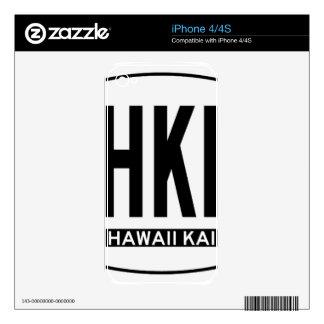 Hi-HAWAIIKAI-Sticker iPhone 4S Decal