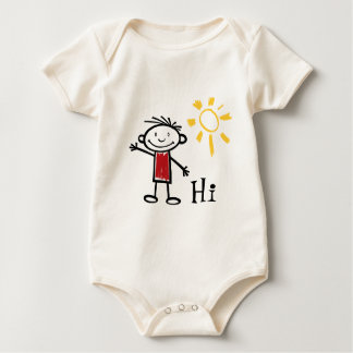 Hi, Hello, How are you? Baby Bodysuit