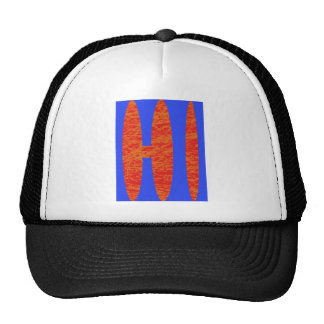 hi, hello or Hawaii initials or word Trucker Hat