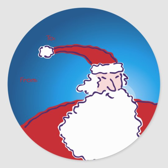 Hi Ho Santa! Gift Tag Stickers