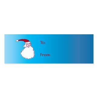 Hi Ho Santa! Gift Tags Mini Business Card