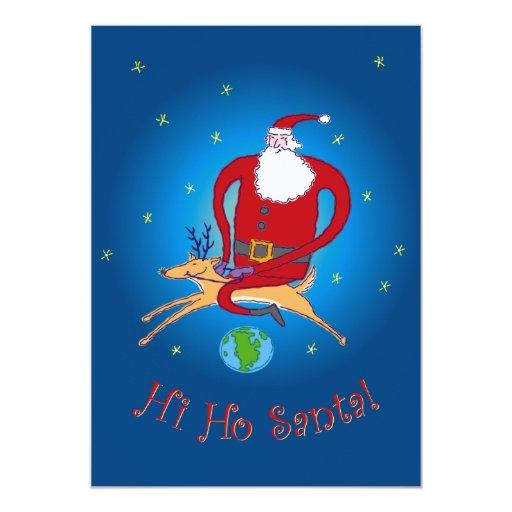 Hi Ho Santa! Party Invitation