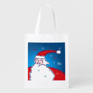 Hi Ho Santa Reusable Grocery Bag