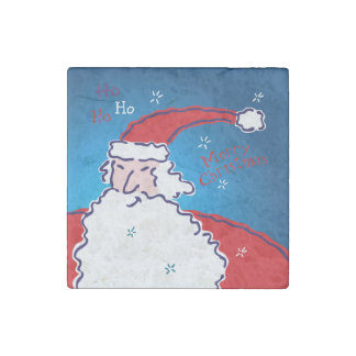 Hi Ho Santa Stone Magnet