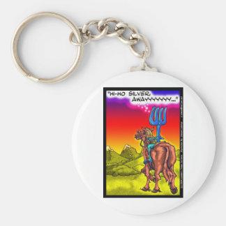 Hi Ho Silver? Fun Lone Ranger Parody Cartoon Gifts Keychain