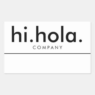 Hi Hola Bilingual English Spanish Name Tag