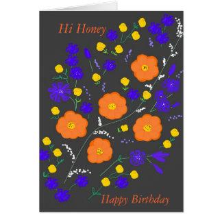 Hi Honey Birthday Card