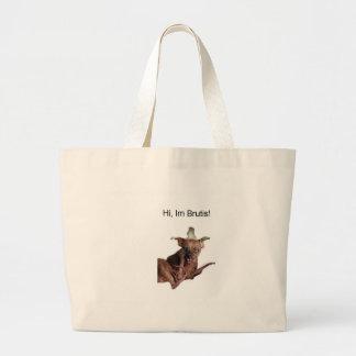 Hi im brutis large tote bag
