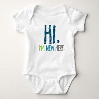 Hi. Im New Here (boy) Baby Bodysuit