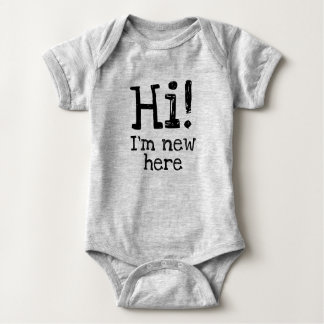 Hi! I'm new here Funny Baby's Bodysuit