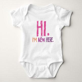 Hi. Im New Here (girl) Baby Bodysuit