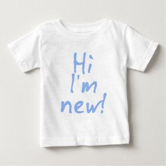 Hi Im New! in Baby Blue Baby T-Shirt