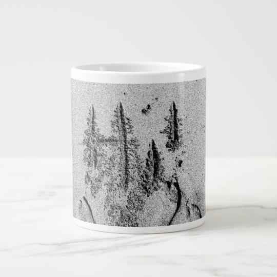 Hi in sand black and white feet hand giant coffee mug
