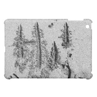 Hi in sand black and white feet hand iPad mini cases
