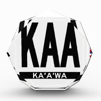 Hi-Kaaawa-Sticker Acrylic Award
