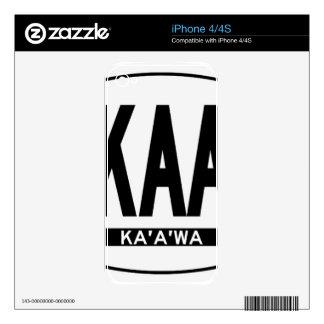 Hi-Kaaawa-Sticker Skin For The iPhone 4