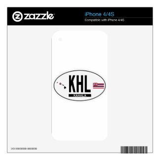 Hi-KAHALA-Sticker Decals For iPhone 4